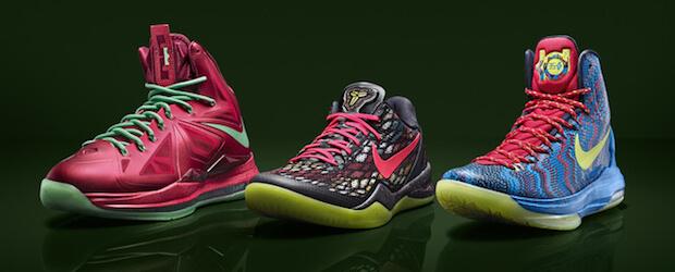 6a30a422fb44 The Visuals  Nike Unveils The Christmas Kicks Of LeBron
