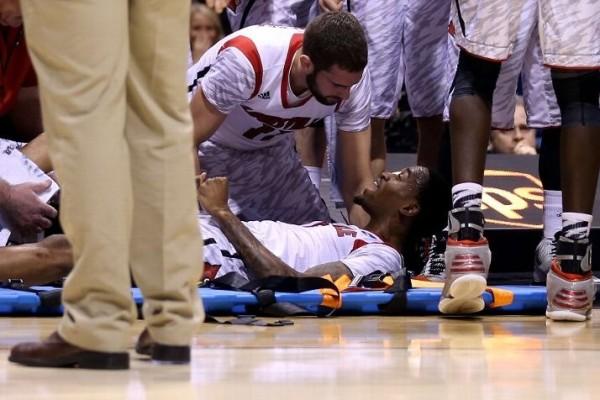 kevin wear broken leg