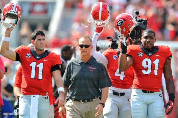 aaron murray mark richt georgia bulldogs