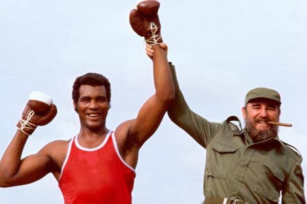 Fidel Castro and Teofilo Stevenson
