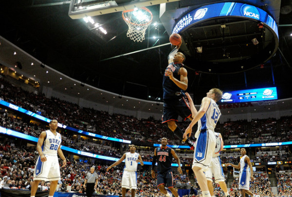arizona's derrick williams dunk vs duke