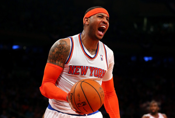 carmelo anthony angry