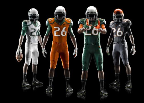 miami hurricanes new 2014 nike football uniforms