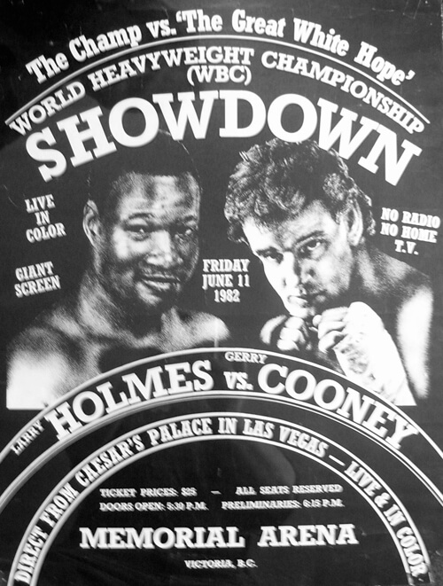 Holmes vs Cooney poster small