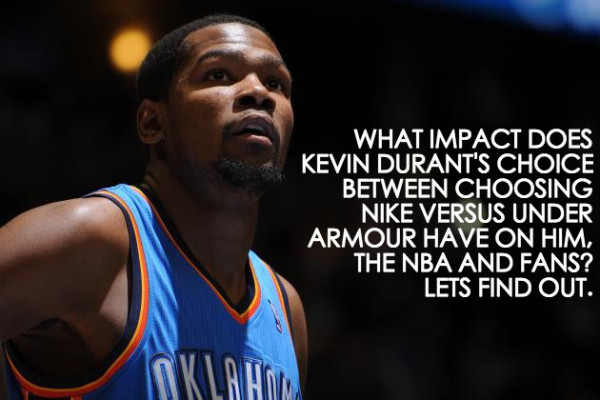 kevin durant nike versus under armour