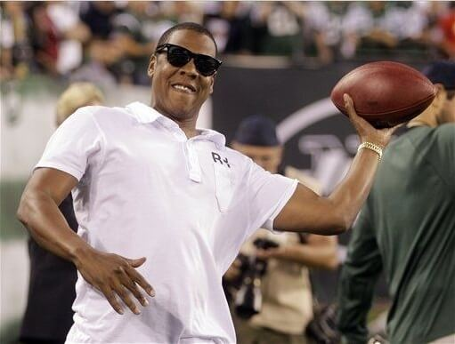 jay-z throwing football