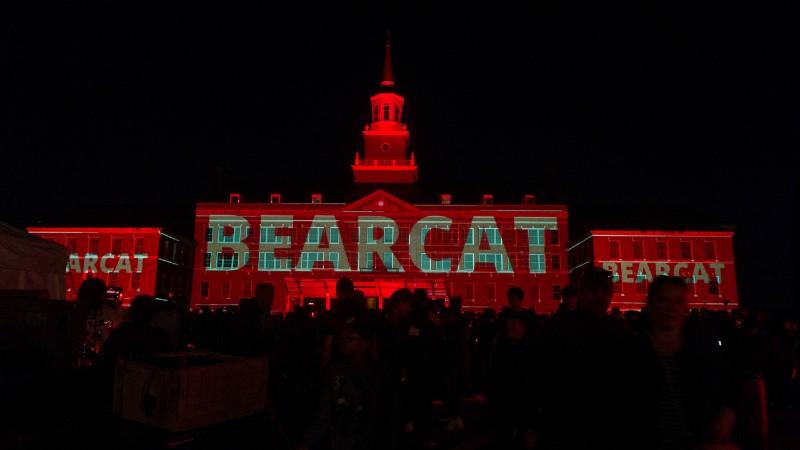 Bearcat logo projected