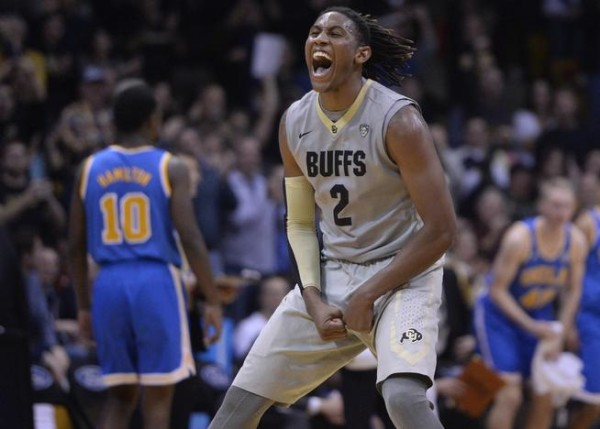 BOULDER, CO - January 2: Colorado Buffaloes guard/forward Xavier Johnson #2 shouts after scoring a game changing dunk in the second half Friday, January 2, 2015 at the Coors Events Center in Boulder, Colorado. CU defeated UCLA 62-56.  (Photo By Brent Lewis/The Denver Post)