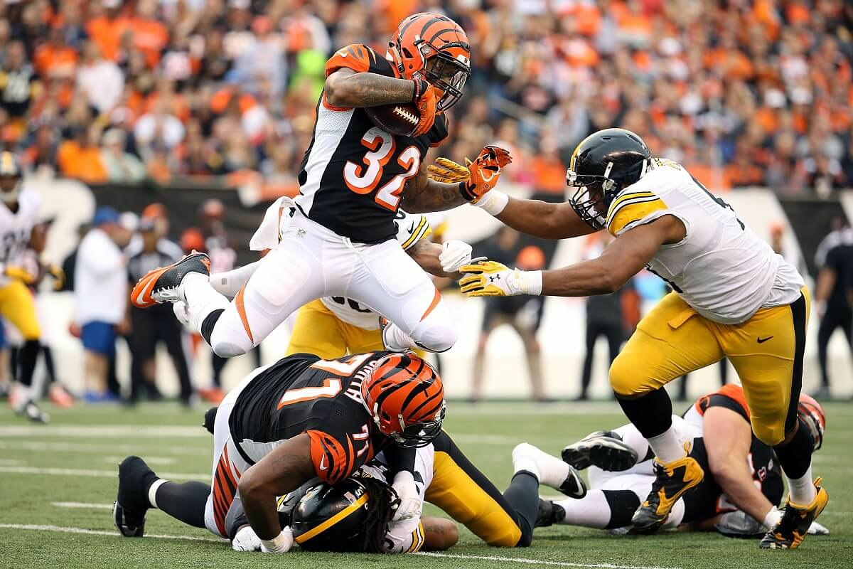 football card guide steelers vs bengals fight