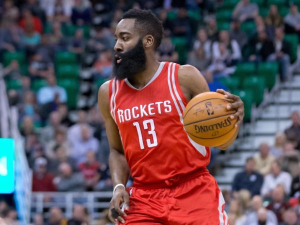 Harden eyeing a potential pick being set. (Courtesy: PaceAndSpace.com)