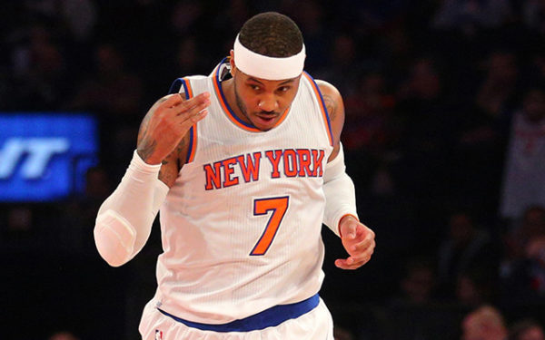 I don't know why Melo wants to remain a Knick, but I'm glad he plays for them. (Credit: Brad Penner-USA TODAY Sports)