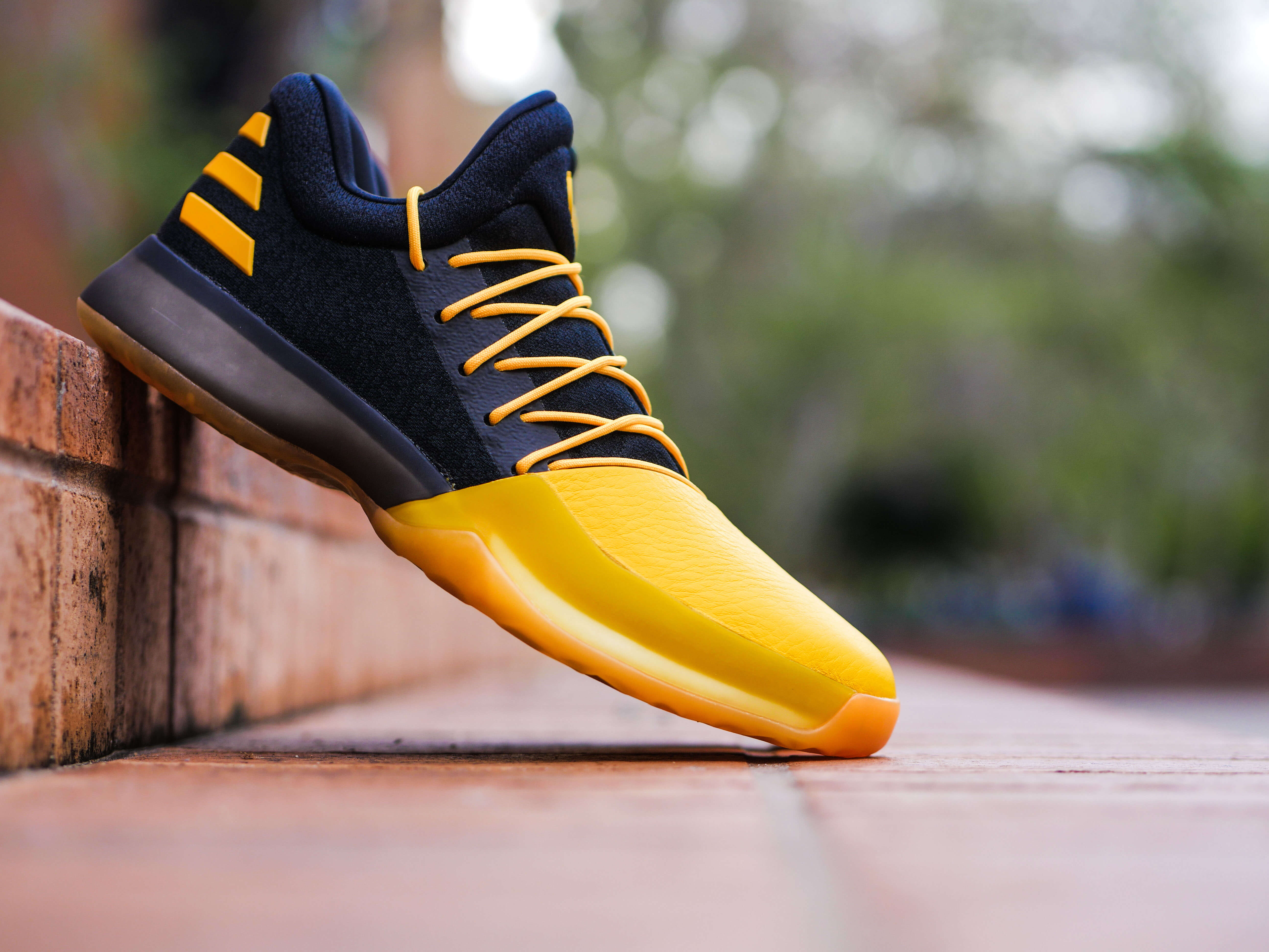 The Harden Vol. 1 Fear the Fork edition is designed with a black knit upper  and gold across the toe, laces, three stripes and Harden Mark to reflect  the ...