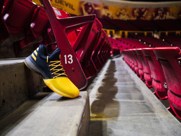 designer fashion 51702 5d3b0 To celebrate Harden s evolution in Tempe, where his No. 13 jersey now hangs  from the rafters, Adidas introduced the Harden Vol. 1 Fear the Fork edition.
