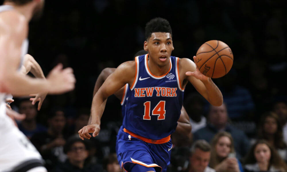a8543633a It has been an up-and-down few years for Knicks  rookie Allonzo Trier. But  he has the self-centered belief in himself
