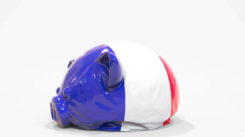 France deflated finances loss