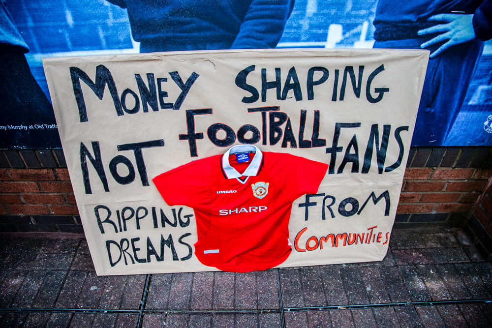 manchester united fan protest
