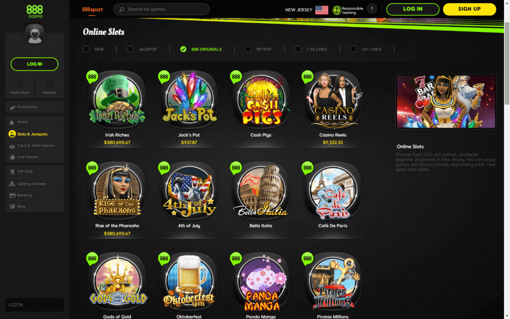 888 Casino Review Overview