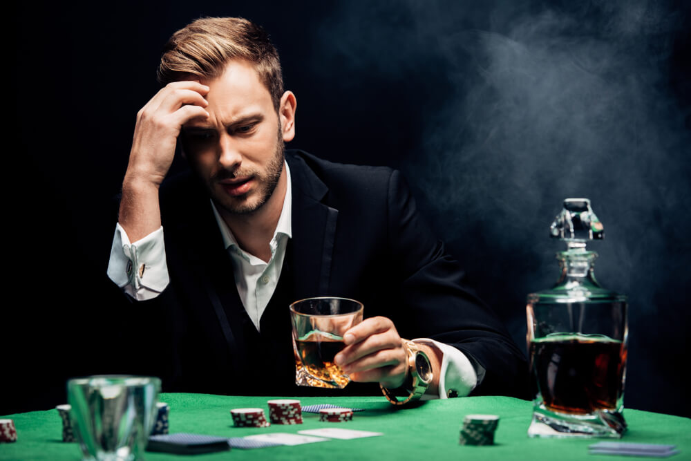 don't drink and gamble